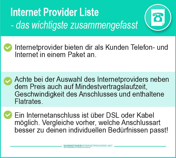 15624878baebbb Internet Provider Liste 2019 - alle Anbieter im Vergleich